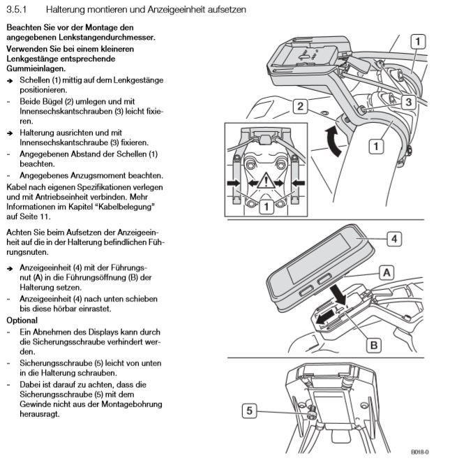 mit Nahbedieneinheit Art Nr 21612-1 Marquardt Brose Display Halterung