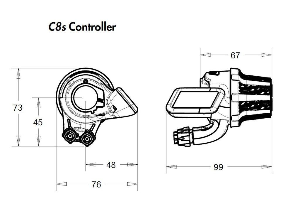 380 Enviolo Drehgriffschalter C8S in schwarz aus Alu für N330 360 Nuvinci